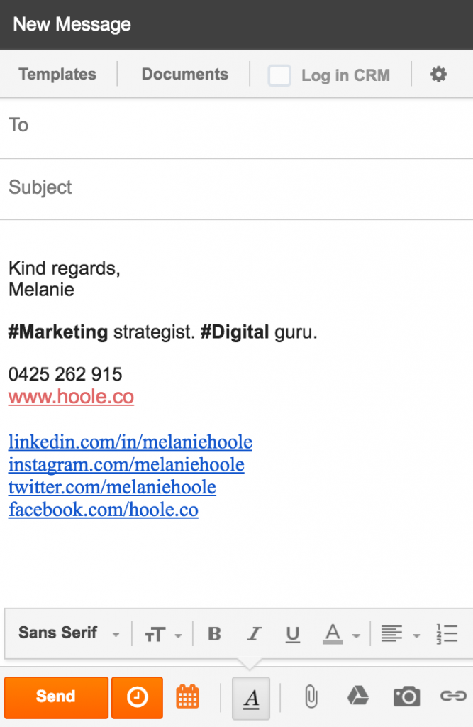 melanie-hoole-marketing-email-signature