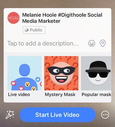 facebook live mobile screent